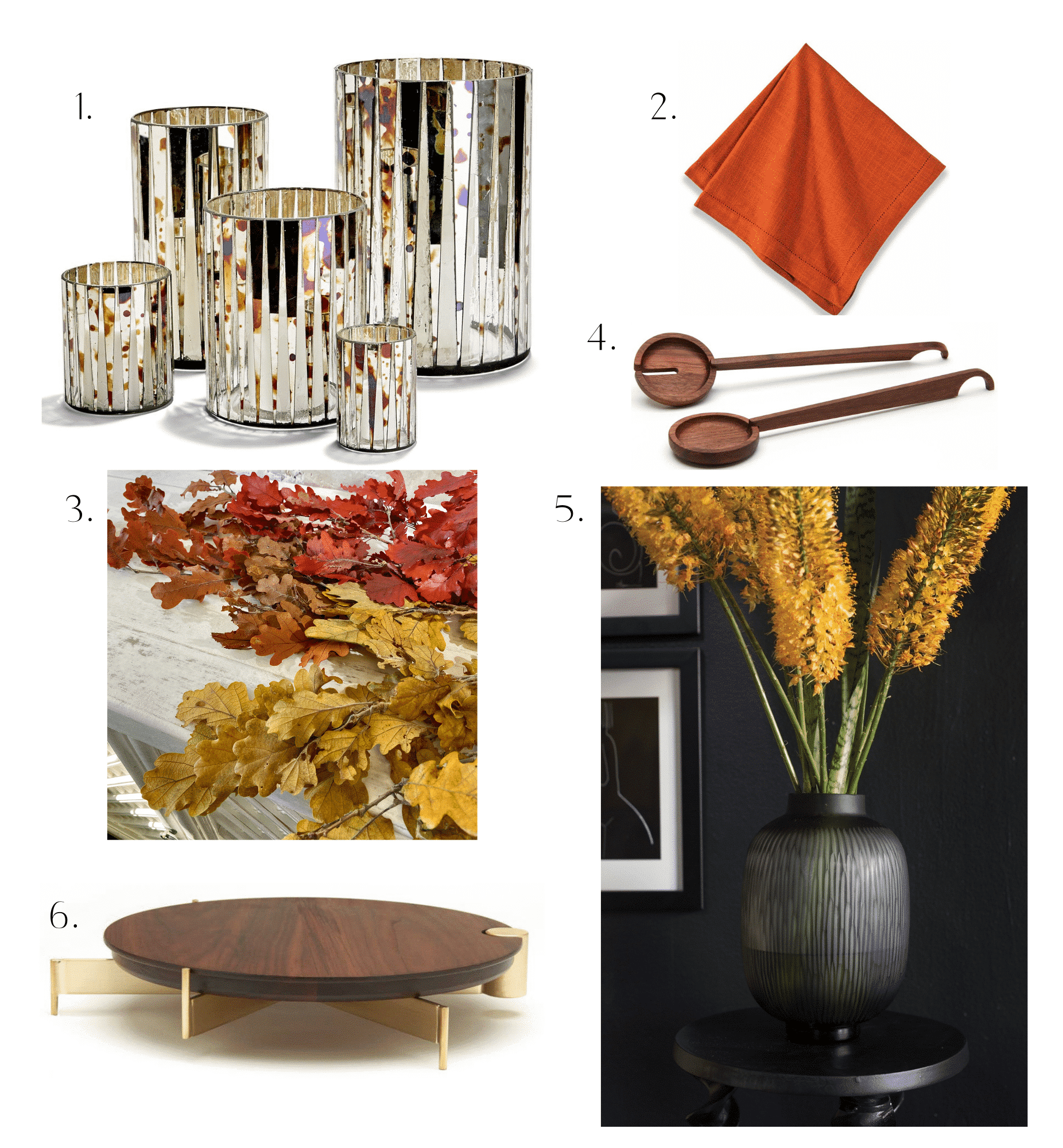 Images shows 6 home items for fall